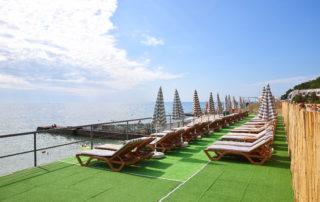 Пляж отеля ИваМария (Алушта)